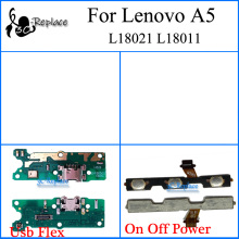 For Lenovo A5 L18021 L18011 USB Charger Charging Port Dock Connector Module Board On Off Power Button Keypad volume Flex Cable