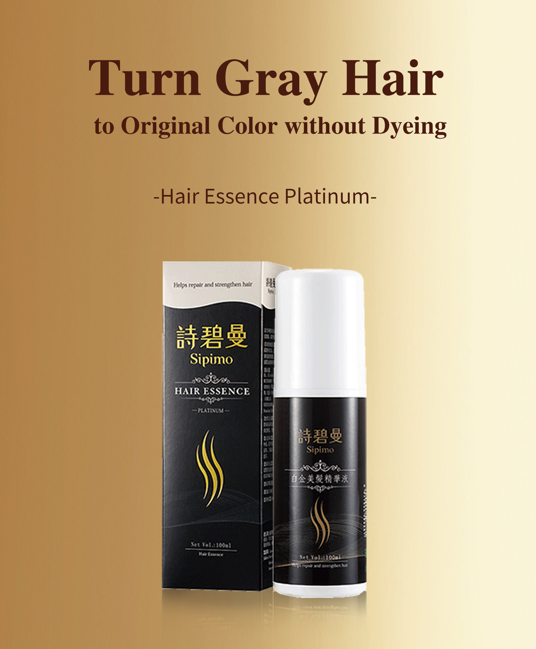 turn grey hair into black