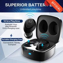 Motorola VerveBuds 100 Bluetooth TWS Wireless Earphone with Mic Bass Stereo AAC SBC Earbud Wireless Headphones Voice Control