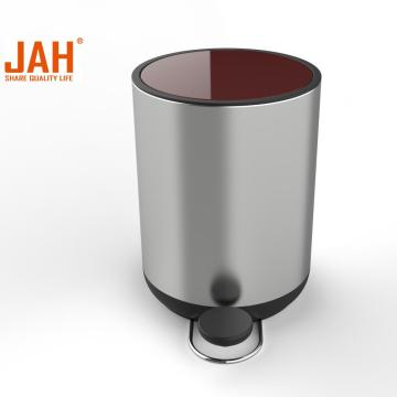 JAH Color Steel Garbage Waste Bin with Lid