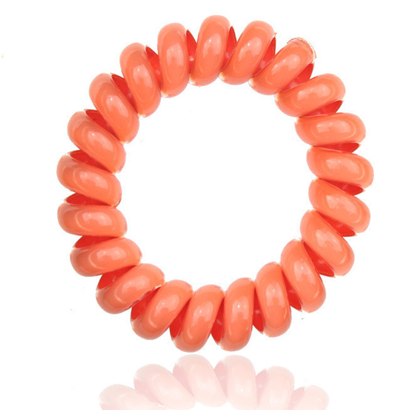 10pcs Telephone Cable Women Hair Styling Braider Ponytail Holder Elastic Spring Hair Rubber Band Ring Ties Rope Hair Accessories