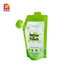 Baby Food Packaging Spout pouch With double ziplock