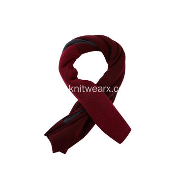 Women's Knitted Two Tone Winter Scarf