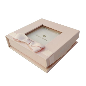 Pink small bracelet jewelry gift box with ribbon