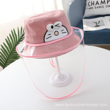 Pink Pokonyan Anti-droplet Hat for Children