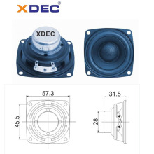 57mm square passive neodymium 4ohm 10w speaker