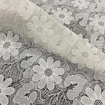Pop-fashion Heronsbill Pattern Milky Yarn Embroidery Fabric