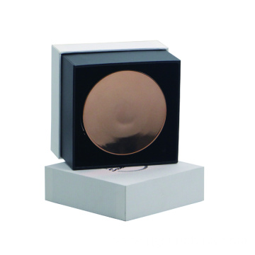 Cover and base structure face powder case