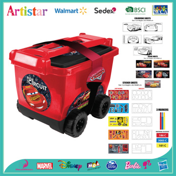 DISNEY&PIXAR CARS stationery artwork activity trolley