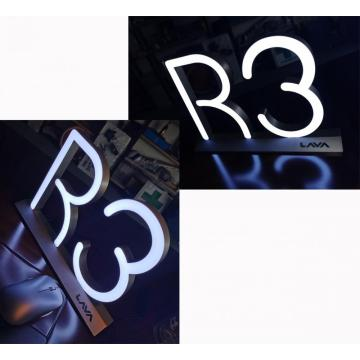 Countertop 3D letter light sign