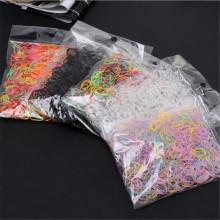 1000 Pcs/Bag Girls Elastics Hair Bands Baby Hair Holders Rubber Bands Gum For Hair TPU Disposable Ponytail Holder Rubber Band
