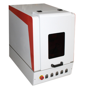 mini Enclosed 30w Metal Smoking Pipes Fiber Laser Marking Machine