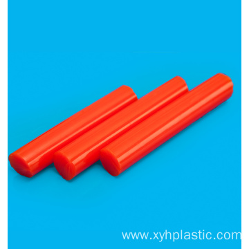 Colored cast polyurethane material rod