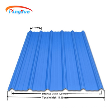 heat insulation tejas warehouse PVC plastic roof panels