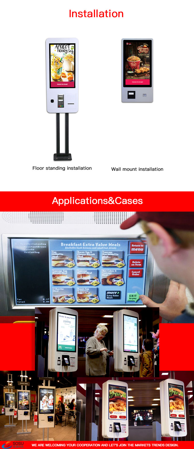 Display Self-order Kiosk