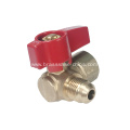 Brass angle type gas ball valve