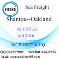 Shantou Port Sea Freight Shipping To Oakland