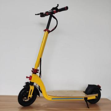 Custom Flodable Yellow Maple Electric Scooter Adult