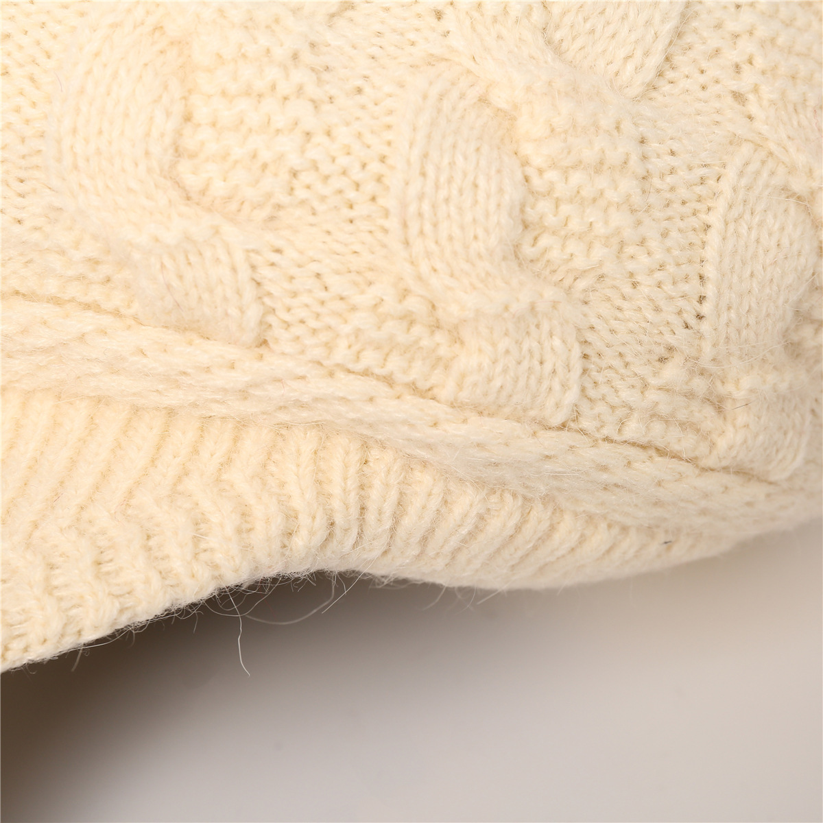 European and American warm rabbit wool knit cap (10)
