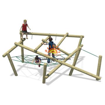 Outdoor Structure Playground Climbing Nets Rope
