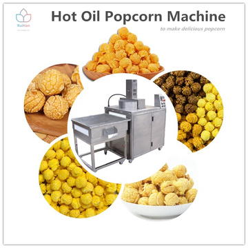 Hot oil popcorn machine for commercial use