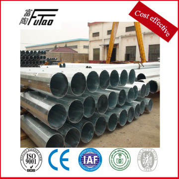 9m 11m low voltage galvanized steel power pole