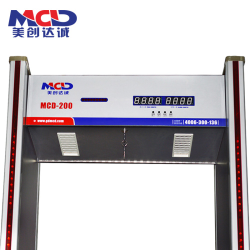 6 Zone Well- Received Walk Through Metal Detector With Web Browser MCD600