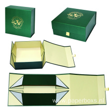 Custom Gold Foil Logo Folding Paper Box