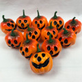 16PCS White Artificial Pumpkin Ornament Halloween Home DIY Decoration Mini Fake Vegetables Foam Simulation Pumpkin