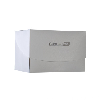 Large capacity four grid plastic card box