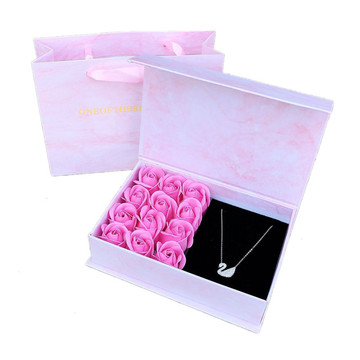 Marble Magnetic Preserved Flower Rose Gift Box