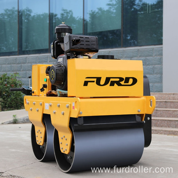 Double drum self-propelled walk behind soil compactor vibratory roller FYL-S600C