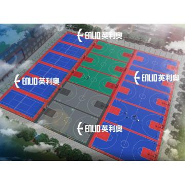 Basketball Court Tiles Interlocking Sports Flooring