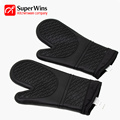 Heat Resistant Barbecue Gloves Silicone Oven Hot Mitts