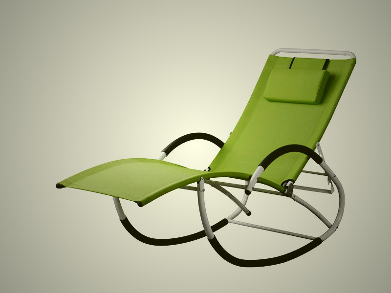 Adjustable steel G rocking chair