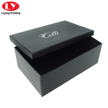Luxury Matte Black Shoe Box with Lid