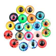 20Pcs 10/16/20mm Colorful Glass Dolls Eye No Self-adhesive Dinosaur Animal Eye Time Gem Accessories Craft Eyes For Toy