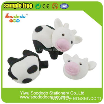factory cow shaped kid eraser