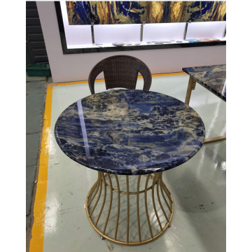 Semi precious blue sodalite table