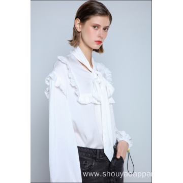 WHITE BLOUSE WITH BOW