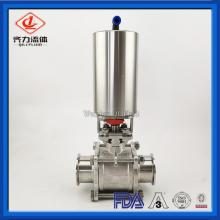 SS304 Or SS316L Clamp Pneumatic Ball Valve