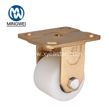 Low Gravity Caster Wheel Nylon 3 inch Fixed