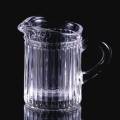 Ribbed design small glass creamer