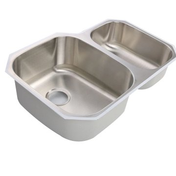 1.2mm double bowl stainless steel 304 sink 9653AL