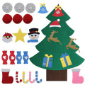 DIY Felt Christmas Tree  Artificial Tree Wall Hanging Ornaments Christmas Decoration for New Year Gifts Kids Toys Home