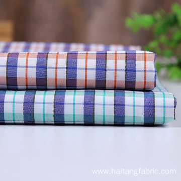 Check Polyester fabric Bright Woven Cloth Smooth Shirt