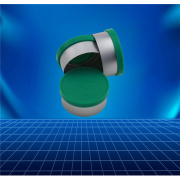green flip-off cap for infusion bottle
