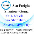 Shantou LCL Shipping to Goma