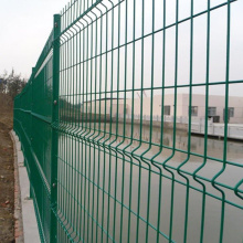Galvanized metal welded wire mesh fence