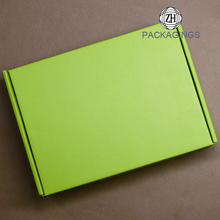 Matt green full color mailing package box